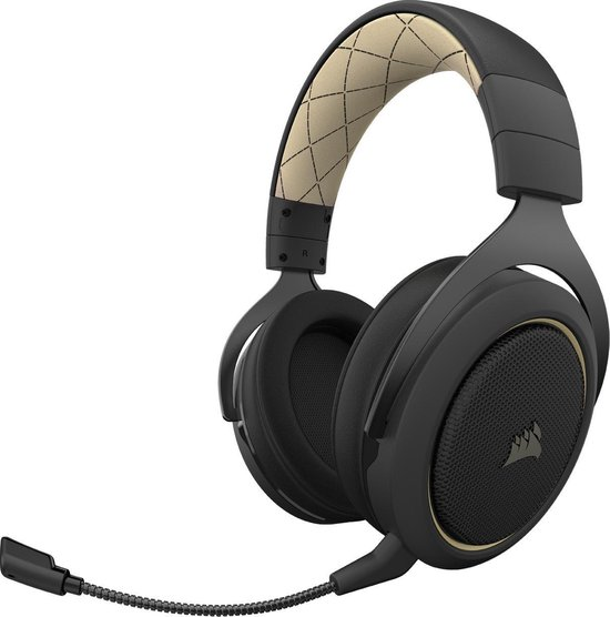Corsair HS70 Pro Surround Draadloze Gaming Headset - PC - Zwart/Crème