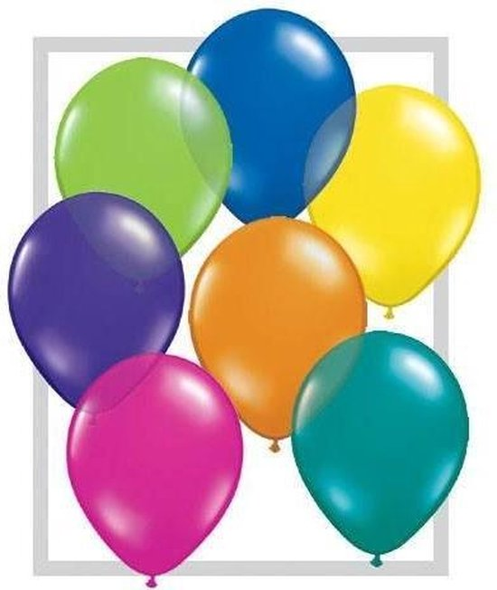 Zak ballonnen gekleurd 100 stuks 30 cm