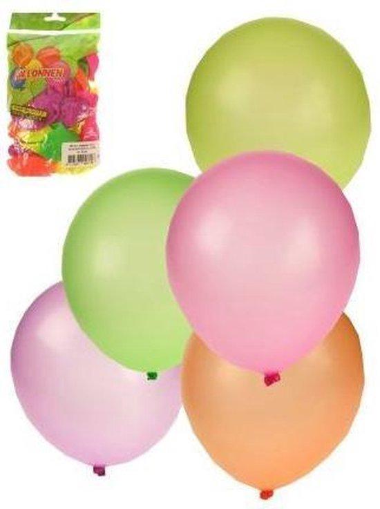 Ballonnen ca 50 stuks assorti kleuren neon