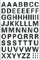 Huismerk Herma 4158 Etiket met letters A-Z 10mm Transparant - 1 pakje met 1 velletje