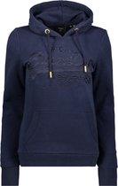 Suprerdry Vintage Logo Tonal Embroidery Hoodie Dames - Navy