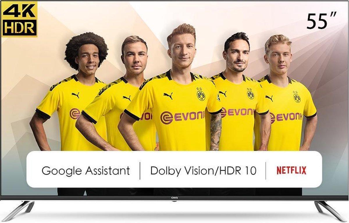 CHiQ U55H7A – 55 inch 4K Ultra HD – Android Smart TV – Chromecast – Dolby Audio