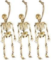 WIDMANN - Halloween decoratie hang skeletten - Decoratie > Slingers en hangdecoraties