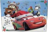 Cars adventskalender met 24 verassingen - Met stickervel - Glitterlijm - Gummetjes