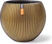 Capi Vaas bol groove d29h25cm zwart/goud