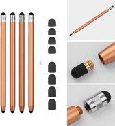 4 stuks - Stylus touchscreen pennetjes - Goud