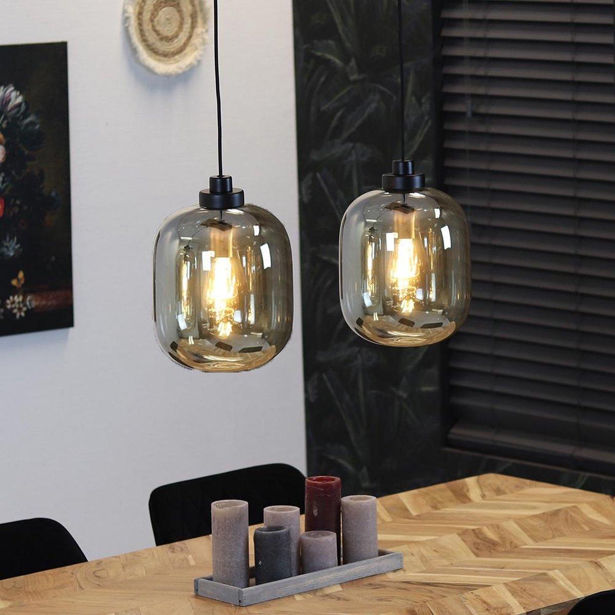 Bronx71 Hanglamp Amber 30 Cm 2 Lichts Glas Bol Com