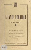 L'année terrible à Sarlat, 1870-1871