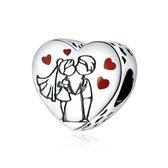Zilveren bedel Tijd voor liefde