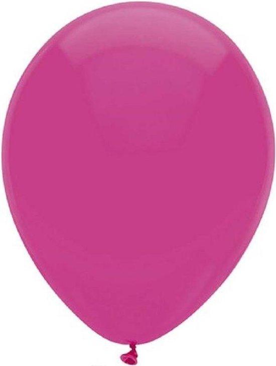 Ballon magenta ø 30 cm 100 stuks - .