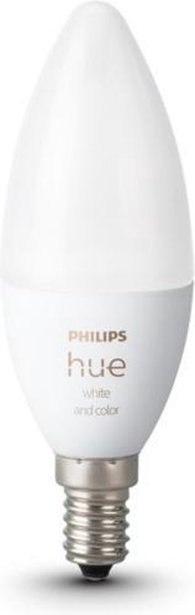 Philips Hue Kaarslamp Lichtbron E14 - White and Color Ambiance - 5,2W - Bluetooth