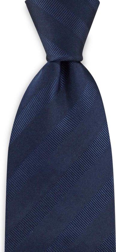We Love Ties - Stropdas marineblauw - geweven zuiver zijde
