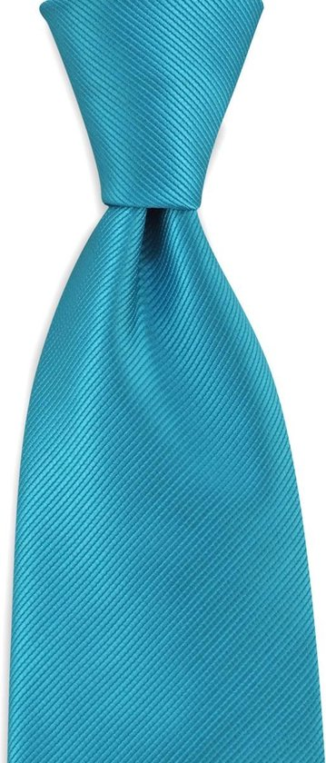 We Love Ties - Stropdas turquoise repp - Geweven polyester Microfill