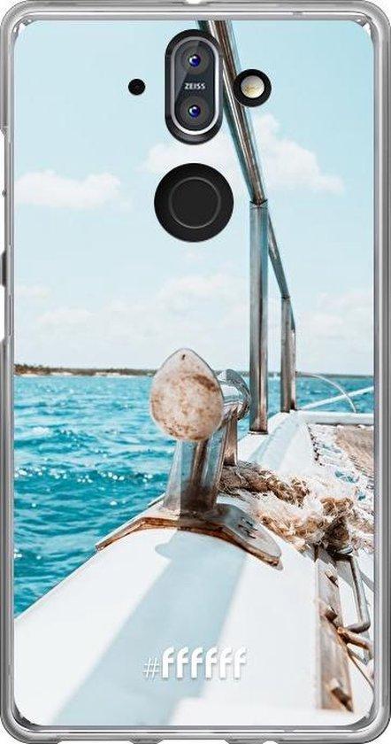 Nokia 8 Sirocco Hoesje Transparant TPU Case - Sailing #ffffff