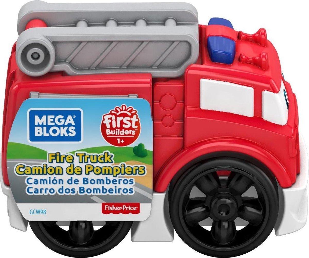 Fisher Price brandweerwagen Mega Bloks jongens 10 cm rood/wit