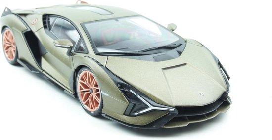 Afbeelding van Bburago Lamborghini Sian FKP 2020 Olijfgroen 1:18 speelgoed