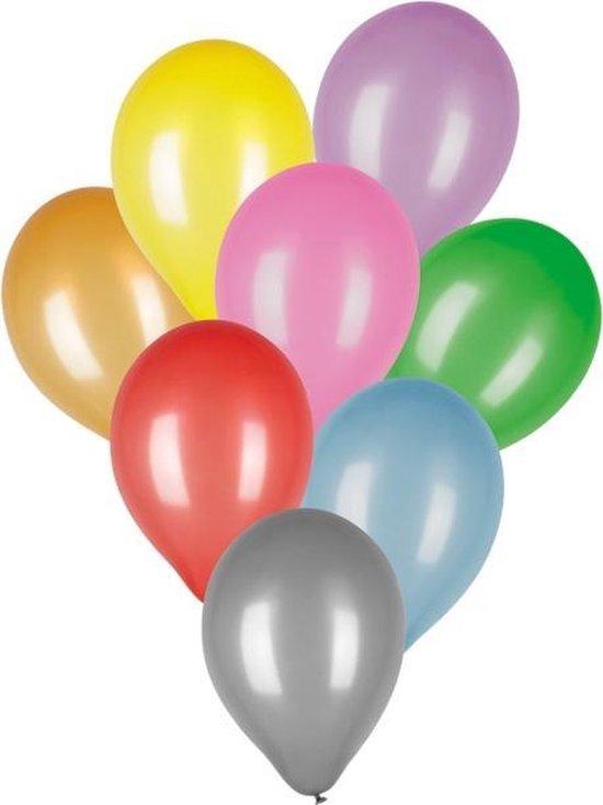 Boland Ballonnen Metallic 25 Cm Latex 8 Stuks