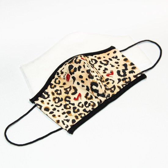 Mondkapje panterprint/luipaardprint