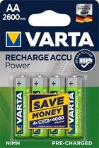 Varta AA Oplaadbare Batterijen - 4 stuks