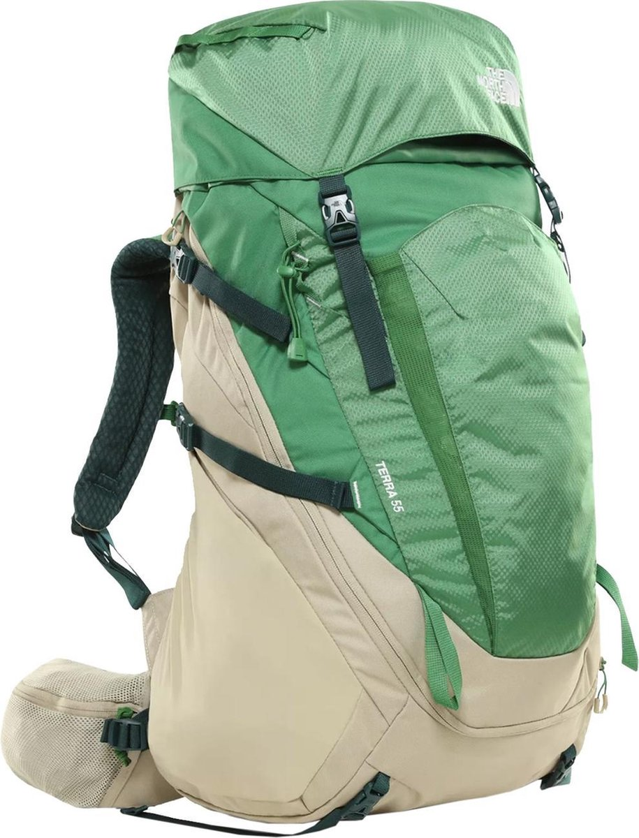 The North Face Terra Backpack - Twill Beige/Sullvan Green - Maat L/XL