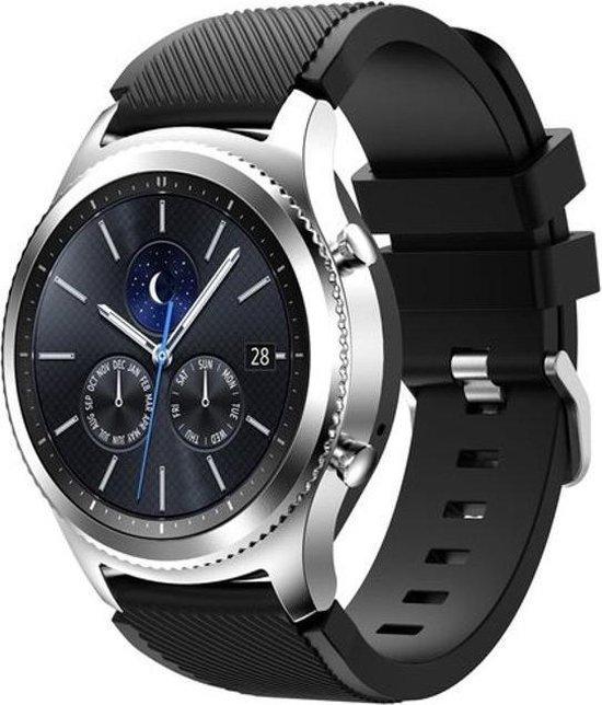 Sportbandje Zwart geschikt voor Samsung GEAR S3 & Galaxy Watch 46mm - SmartphoneClip.nl