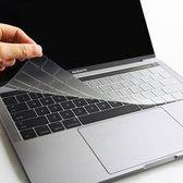 MacBook Pro 13 A1716 / Macbook Pro 15 A1707 - Toetsenbord  cover beschermer - TPU keyboard protector - US Toetsenbord Indeling - Transparant