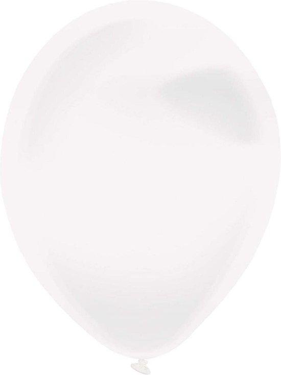 Amscan Ballonen 13 Cm Latex Kristalhelder Transparant 100 Stuks