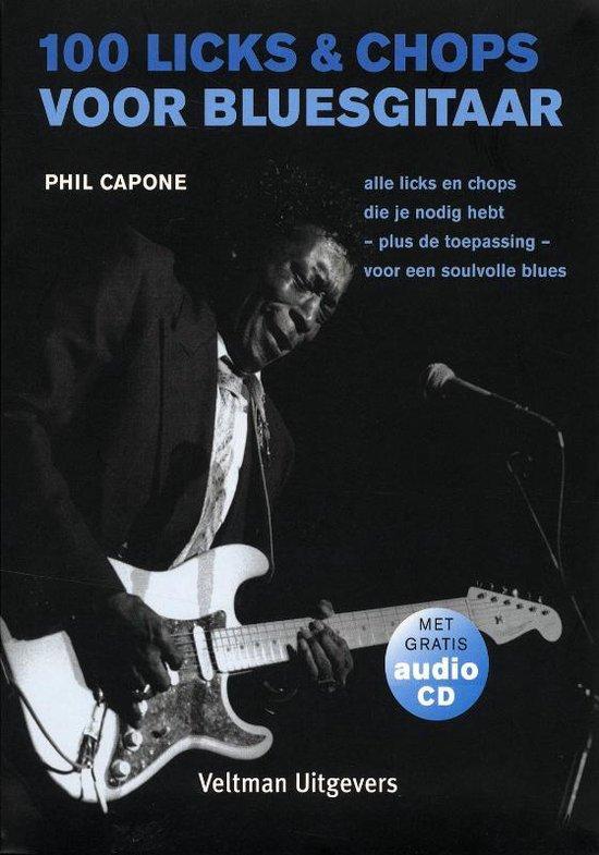 Cover van het boek '100 licks & chops voor bluesgitaar + CD' van P. Capone