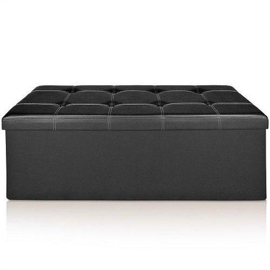 Deuba Zitbankje multifunctioneel zwart 114 x 40 x 40cm