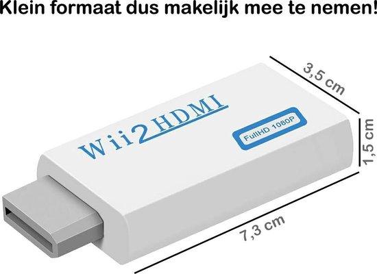 Wii naar HDMI Adapter Converter 1080p Full HD Kwaliteit - Wit