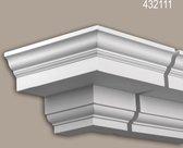Buitenhoek Profhome 432111 Exterieur lijstwerk Hoeken voor Wandlijsten Gevelelement neo-classicisme stijl wit