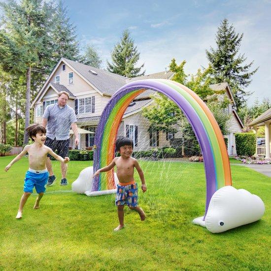 Teamson Kids - Regenboog Waterpret Opblaasbare sproeier - Meerkleurig TK-48251R