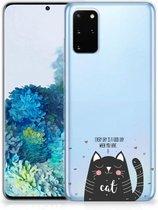 Telefoonhoesje met Naam Samsung Galaxy S20 Plus Cat Good Day