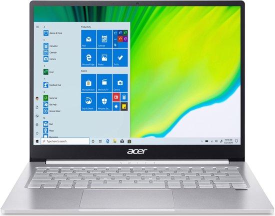 Acer Swift 3 SF313-52-5108 Notebook Zilver 34,3 cm (13.5'') 2256 x 1504 Pixels Intel® 10de generatie Core™ i5 8 GB LPDDR4-SDRAM 1000 GB SSD Wi-Fi 6 (802.11ax) Windows 10 Pro