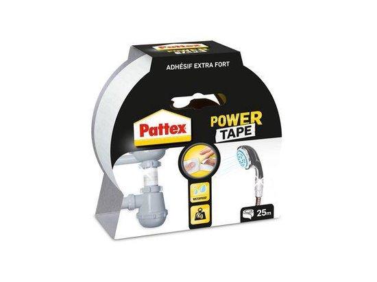 Pattex Power Tape - Ducttape - Waterbestendig - 25 Meter - Wit - Pattex