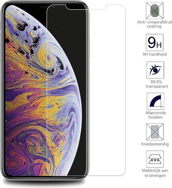 iPhone X/Xs Screenprotector Glas Gehard Tempered Glass - 2 PACK