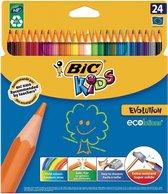 Kleurpotloden BIC Kids evolution: 24 stuks (1185215)