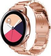 Samsung Galaxy Watch Active 2 Bandje - Just in Case - Metalen armband - rose goud