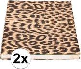 2x Kaftpapier panter/luipaard print 200 x 70 cm per rol - Boeken kaften - Kaft papier / cadeaupapier
