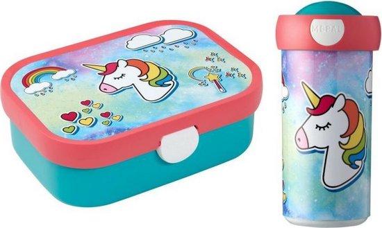 Lunchbox en schroefbeker Unicorn,  Eenhoorn, Mepal