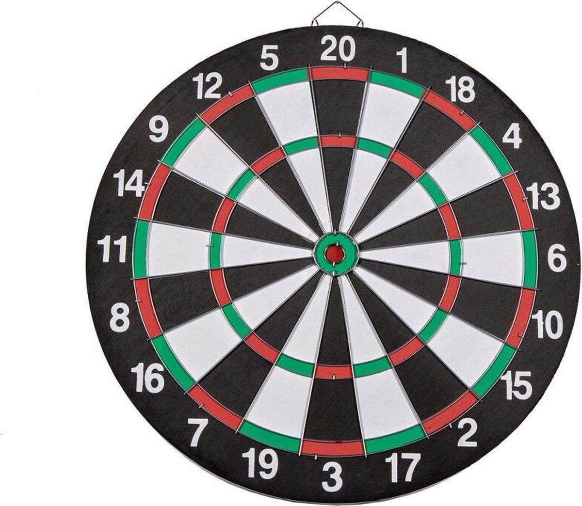 Dartbord 37.5 cm met 6 Darts - Speelgoed - Sport en Spel