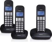 Profoon PDX-1130 Draadloze Dect Telefoon - 3 handposten - Lange standby tijd - Zwart