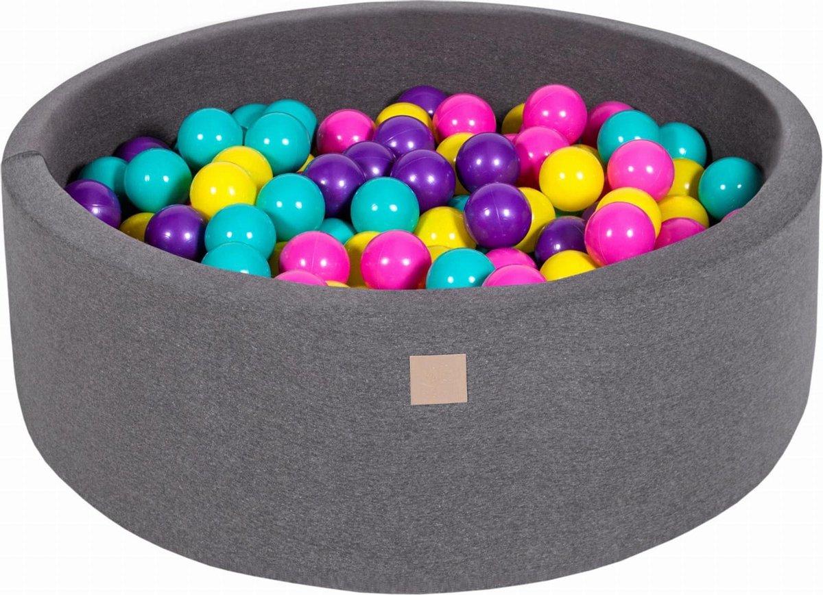 Ronde ballenbak incl 200 ballen - Donker grijs