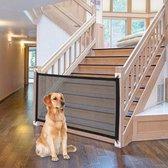 Oprolbaar hondenhek - oprolbaar hek hond - 72x110cm