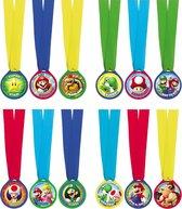 Amscan Medailles Super Mario Junior 12 Stuks
