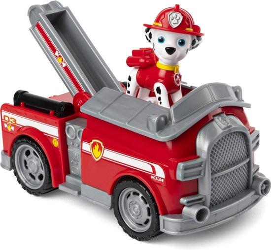 PAW Patrol - Marshall - Brandweerwagen - Speelgoedvoertuig met actiefiguur