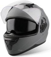 Vinz Kennet Integraalhelm met Zonnevizier / Motorhelm / Scooter helm / Brommerhelm – Titanium