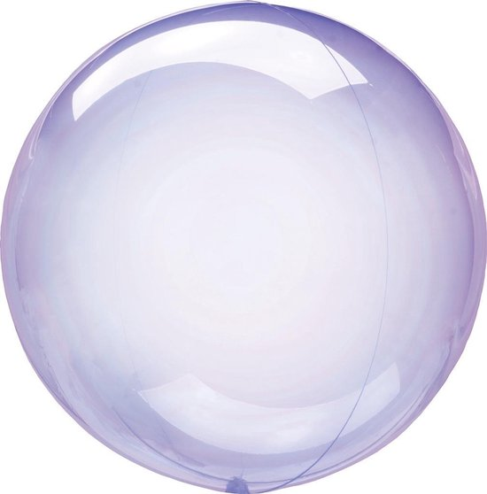 Anagram Folieballon Clearz Petite Crystal 30 Cm Transparant Paars