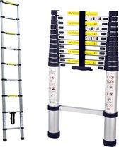 Telescopische ladder - 13 treeds - 3.80m
