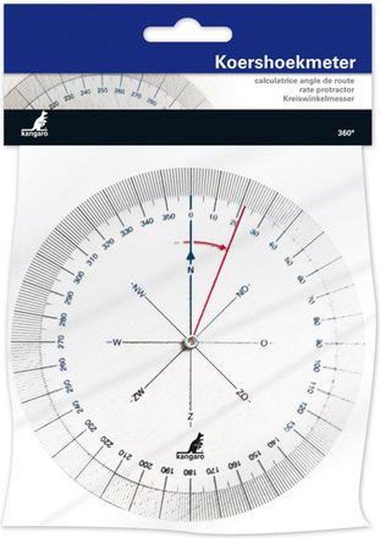 Afbeelding van Kangaro Koershoekmeter 126mm - 360 graden - 2 draaibare schijven - Kunststof